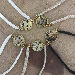 Linofish bracelets, small gold shape
