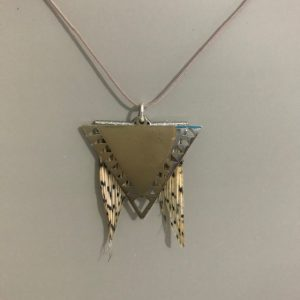 Lionfish pendant with large triangle charm