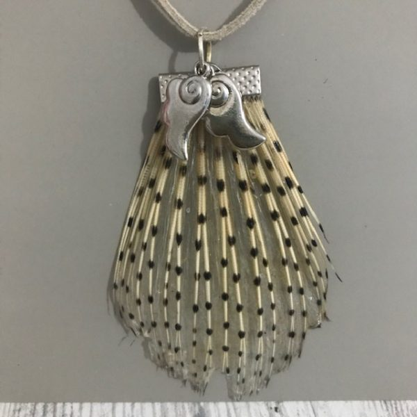 Lionfish tail pendant with wing charms