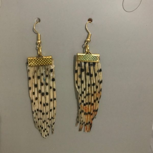 Lionfish earrings, plain, gold-plated.